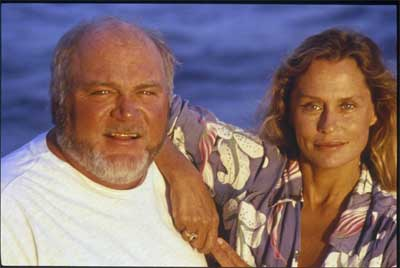 Bret Gilliam and Lauren Hutton off Cocos Island, Costa Rica in 1998