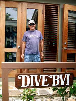 Dive BVI founder Joe Giacinto at their Little Dix Bay location