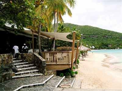 Little Dix Bay resort beach on Virgin Gorda