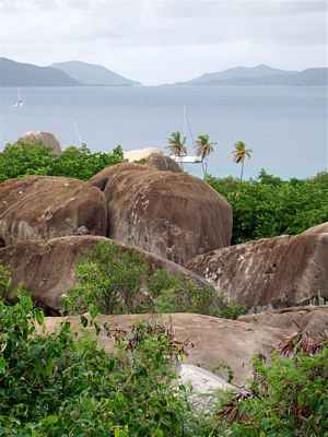 Overlooking The Baths at Virgin Gorda to Tortola on the western horizon.