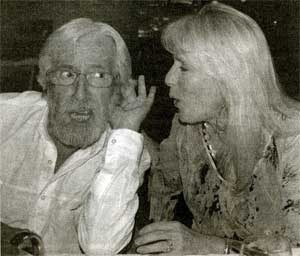Jean-Michel Cousteau listening to Nan Cousteau