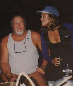 Gilliam &amp; Hutton aboard Nai'a in Fiji after night dive