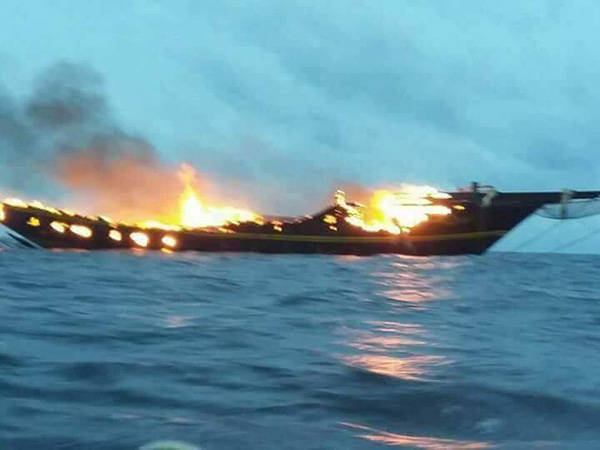 WAOW liveaboard caught fire