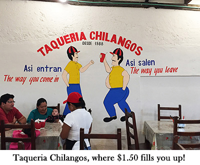 Aqueria Chilangos, where $1.50 fills you up!