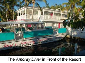 The Amoray Diver in Front of the Resort