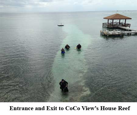 Entrance and Exit to CoCo View's House Reef