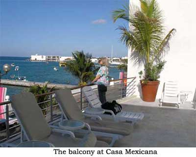 The balcony at Casa Mexicana