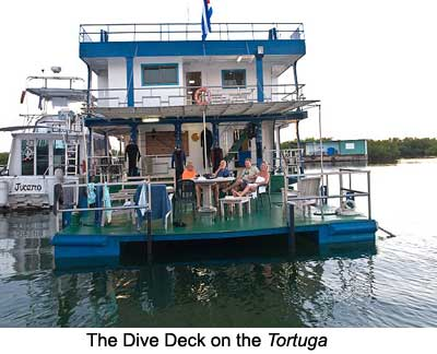 The Dive Deck on the Tortuga