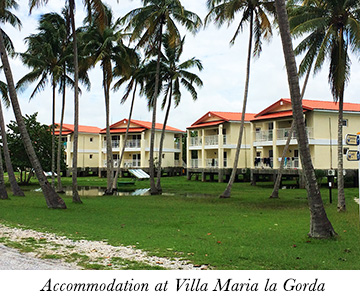 Accommodation at Villa Maria la Gorda