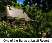 One of the Bures at Lalati Resort