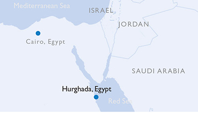 Hurghada, Egypt - Map