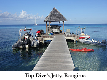 Top Dive's Jetty, Rangiroa