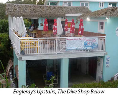 Eagleray's Upstairs, The Dive Shop Below