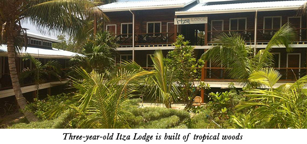 Three-year-old Itza Lodge is built of tropical woods