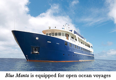 Blue Manta is equipped for open ocean voyages