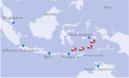 Indonesia Dive Map