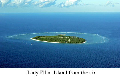 Lady Elliot Island from the air