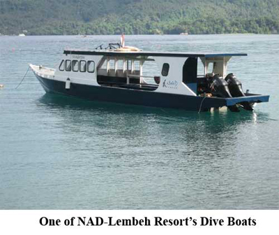 One of NAD-Lembeh Resort's Dive Boats