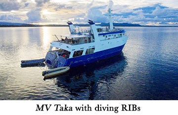 MV Taka with diving RIBs