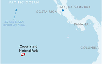 Cocos Island National Park - Map
