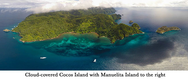 Cocos Island with Manuelita Island to the right