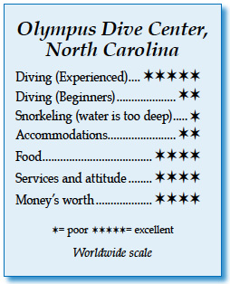 Rating for Olympus Dive Center, North Carolina