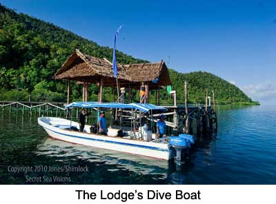 The Lodge's Dive Boat