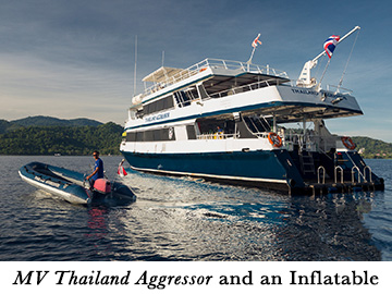 MV Thailand Aggressor and an Inflatable