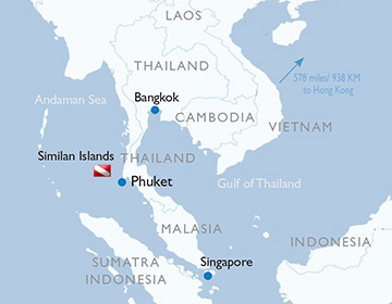 Similan Islands - Map