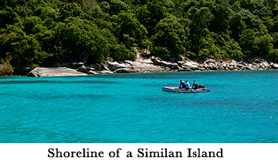 Shoreline of a Similan Island