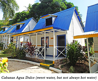 Cabanas Agua Dulce (sweet water, but not always hot water)