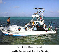 XTC's Dive Boat (with Not-So-Comfy Seats)